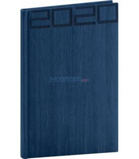 Týždenný diár Forest 2020, modrý, 15 x 21 cm