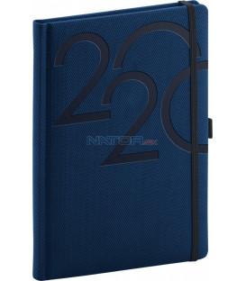 Denný diár Ajax 2020, modrý, 15 x 21 cm