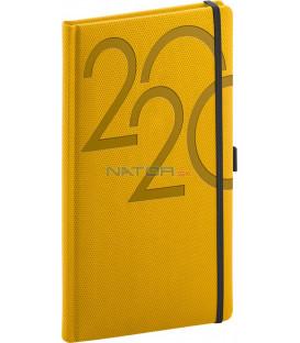 Vreckový diár Ajax 2020, zlatý, 9 x 15,5 cm