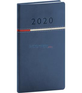 Vreckový diár Tomy modro-červený 2020 9 x 15,5 cm