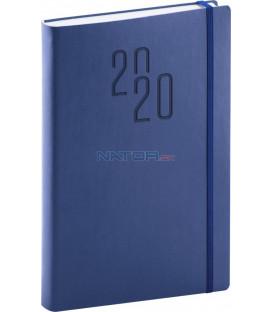 Denný diár Soft 2020, modrý, 15 x 21 cm