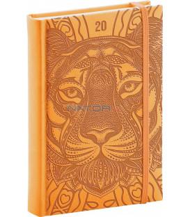 Denný diár Vivella Špeciál 2020, tiger 15 x 21 cm