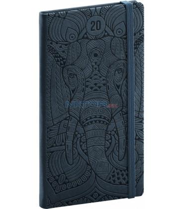 Vreckový diár Vivella Špeciál 2020, slon 9 x 15,5 cm