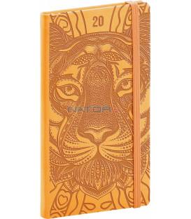 Vreckový diár Vivella Špeciál 2020, tiger 9 x 15,5 cm