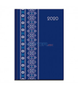 Print denný folk modrý