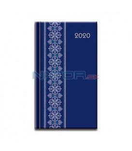 Print mini folk modrý