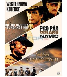 Kolekce: Western 3 DVD - Pro pár dolarů navíc, Sedm statečných, Butch Cassidy a Sundance Kid