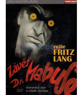 Závěť doktora Mabuse 1933 (Das Testament des Dr. Mabuse) DVD