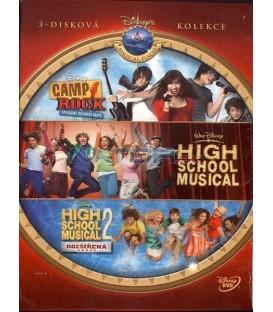 Disney Teenage Kolekce Camp Rock, High school musical 1,2 3 DVD