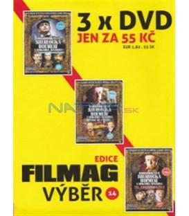 Filmag výběr 14-SHERLOCK HOLMES – 3 DVD