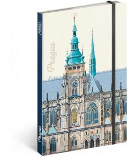 Notes Praha – Libero Patrignani, čistý, 13 x 21 cm