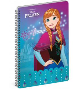 Špirálový blok Frozen – Ľadové kráľovstvo Anna, A4, čistý