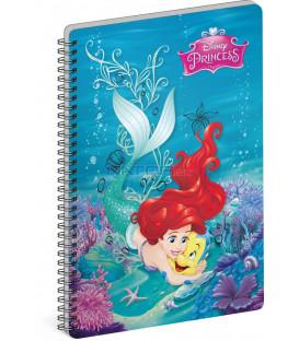 Špirálový blok Princezné – Flounder, A4, čistý
