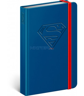 Notes Superman – Logo, linajkovaný, 11 × 16 cm
