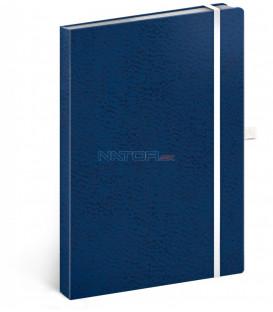 Notes Vivella Classic modrý/biely, bodkovaný, 15 x 21 cm