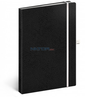 Notes Vivella Classic čierny/biely, bodkovaný, 15 x 21 cm