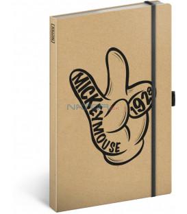 Notes Mickey Craft, linajkovaný, 13 x 21 cm