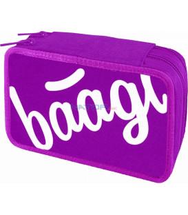 BAAGL Školský peračník dvojposchodový Logo ružový
