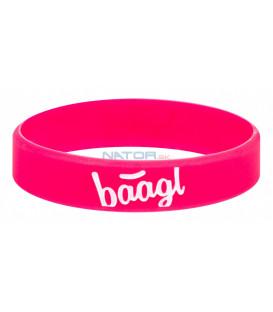 BAAGL Svietiaci náramok Logo ružový