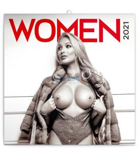 Poznámkový kalendár Ženy 2021, 30 × 30 cm