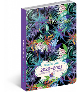 Školský diár Džungľa SK (september 2020 – december 2021), 9,8 × 14,5 cm
