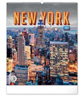 Nástenný kalendár New York 2021, 48 × 56 cm
