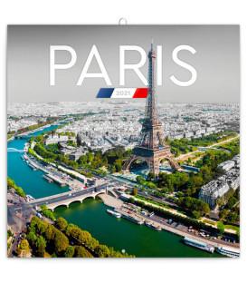 Poznámkový kalendár Paríž 2021, 30 × 30 cm