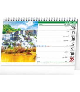 Stolový kalendár Krajina CZ/SK 2021, 23,1 × 14,5 cm