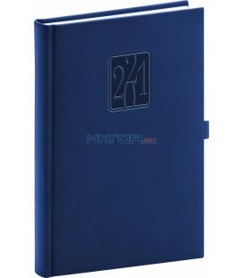 Denný diár Vivella Classic 2021, modrý, 15 × 21 cm