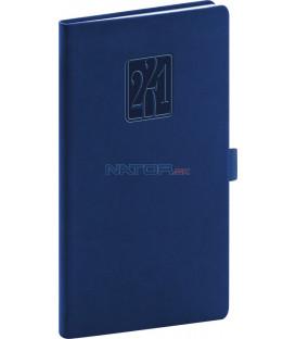 Vreckový diár Vivella Classic 2021, modrý, 9 × 15,5 cm