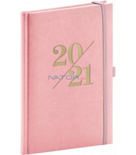Týždenný diár Vivella Fun 2021, ružový, 15 × 21 cm