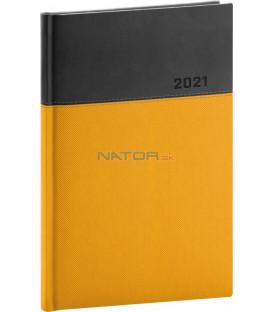 Týždenný diár Dado 2021, žlto-čierny, 15 × 21 cm