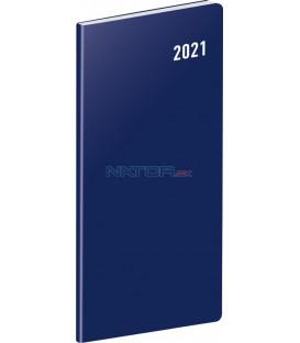 Vreckový diár Modrý SK 2021, plánovací mesačný, 8 × 18 cm