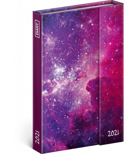 Týždenný magnetický diár Galaxie 2021, 11 × 16 cm