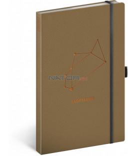 Notes Zverokruh Strelec, linajkovaný, 13 × 21 cm