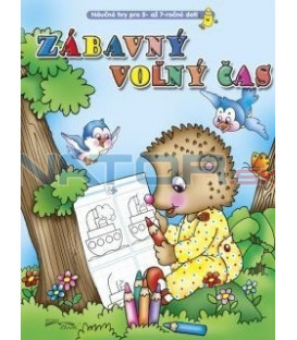Zábavný voľný čas - ježko (Náučné hry pre 5 - 7 ročné deti)