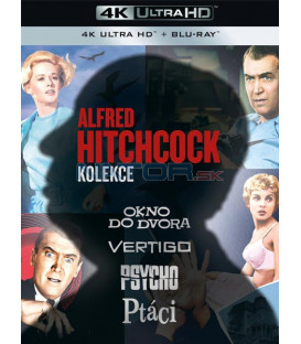 Alfred Hitchcock kolekce 4BD (Alfred Hitchcock Collection (Rear Window/Psycho/Vertigo/Birds) (4K Ultra HD) - UHD Blu-ray