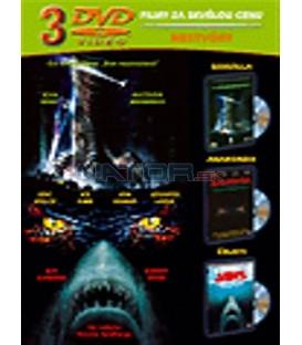 Godzilla / Anakonda / Čelisti -3DVD