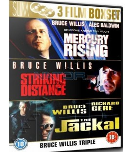 Bruce Willis-3DVD-Mercury / Šakal / Na dostřel