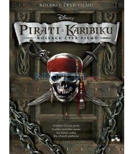 Piráti z Karibiku:Prokletí Černé perly + Truhla mrtvého muže + Na konci světa + Na vlnách podivna), 4 DVD