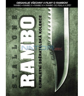 Rambo kolekce 1.-4. 4DVD   (Rambo 1-4)