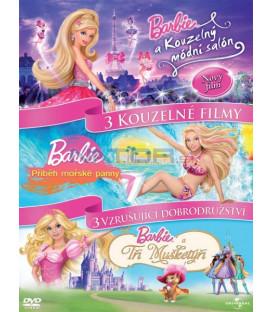 Barbie 3DVD- Kouzelný módní salón / Příběh mořské pany / Tři mušketýři