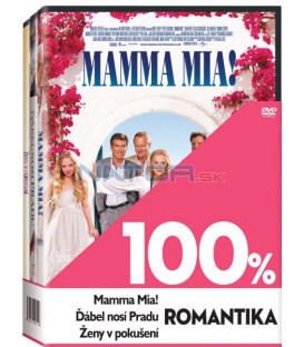 Kolekce: 3 DVD 100% romantika (Ďábel nosí Pradu,Mamma Mia!,Ženy v pokušeni)