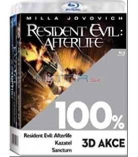 Kolekce 3Blu-ray - 100% 3D (Resident Evil: Afterlife,Kazatel,Sanctum)