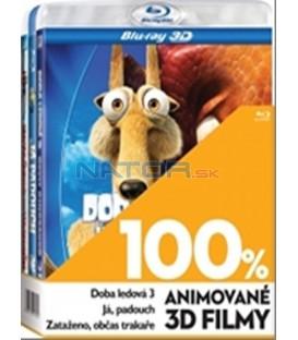 Kolekce 3Blu-ray-100% 3D (Doba ledová 3,Já,padouch,Zataženo,občas trakaře )