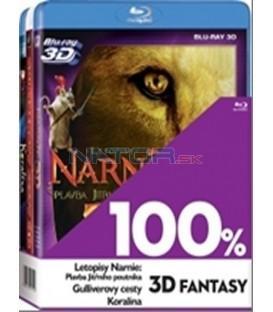 Kolekce 3Blu-ray 100% 3D (Letopisy Narnie:Plavba Jitř.poutníka,Gulliverovycesty, Koralína)