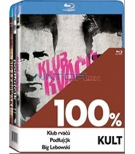 Kolekce 3x Blu-ray -100% kult (Big Lebowski,Klub rváčů,Podfu(c)k)