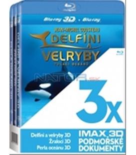 Kolekce 3x Blu-ray -3D IMAX (Žraloci,Delfíni a velryby,Perla oceánu)