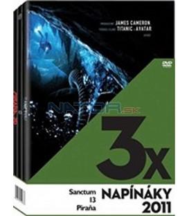 3x Napínáky 2011: Sanctum, 13, Piraňa, 3 DVD