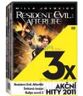 3x Akční hity 2011: Resident Evil: Afterlife, Světová invaze, Rallye smrti 2, 3 DVD